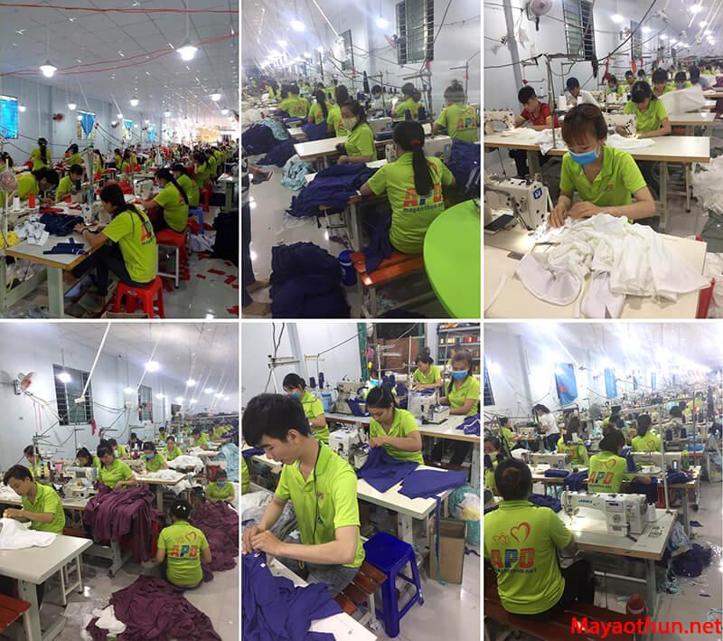 Công ty sản xuất may mặc APD chuyên sản xuất may áo gió