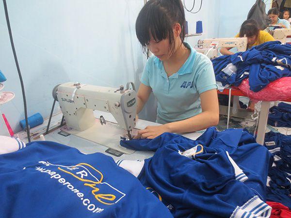 Xưởng may áo thun xuất khẩu số lớn