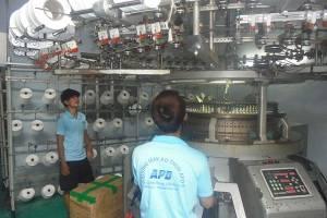 Xưởng dệt vải may áo thun đồng phục cty APD